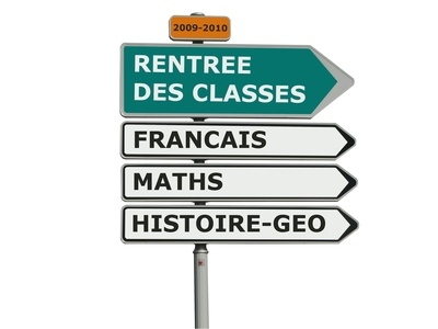 ecole rentree classes panneau